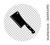 meat cleaver knife    black... | Shutterstock .eps vector #364441490