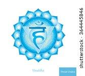 throat chakra  vissudha .... | Shutterstock .eps vector #364445846