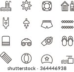 swimming pool outline icons | Shutterstock .eps vector #364446938