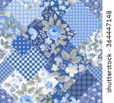 seamless floral patchwork... | Shutterstock .eps vector #364447148