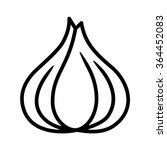 garlic bulb   allium sativum... | Shutterstock .eps vector #364452083