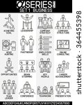 set of icons business and... | Shutterstock .eps vector #364455398