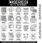 set of icons internet  eps 8 | Shutterstock .eps vector #364455410