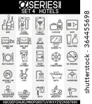 set of icons of hotel service ... | Shutterstock .eps vector #364455698