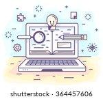 vector illustration in modern...   Shutterstock .eps vector #364457606