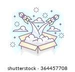 vector illustration in modern... | Shutterstock .eps vector #364457708