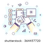 color vector illustration of a... | Shutterstock .eps vector #364457720