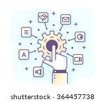 color vector illustration of a... | Shutterstock .eps vector #364457738