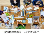 group of business people... | Shutterstock . vector #364459874