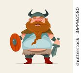 cartoon funny character  viking ... | Shutterstock .eps vector #364462580