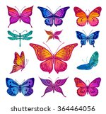 butterflies graphic illustration | Shutterstock .eps vector #364464056