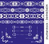 set of ethnic boundaries ... | Shutterstock .eps vector #364465604