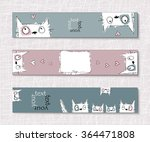 layout postcards  posters or... | Shutterstock .eps vector #364471808