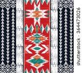 tribal aztec geometric pattern. ...   Shutterstock .eps vector #364473026