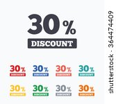 30 percent discount sign icon.... | Shutterstock .eps vector #364474409