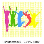 united colleagues victory is... | Shutterstock .eps vector #364477589