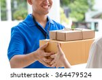 woman hand accepting a delivery ... | Shutterstock . vector #364479524