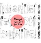 vector line art makeup... | Shutterstock .eps vector #364480706