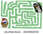 maze  easter bunny with a... | Shutterstock .eps vector #364482053