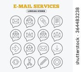 mail services icons. send mail  ... | Shutterstock .eps vector #364483238