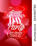 happy valentines day party... | Shutterstock .eps vector #364484780