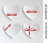 gift cards in the form of heart ... | Shutterstock .eps vector #364485128