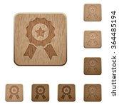 set of carved wooden award...