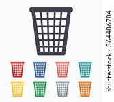 recycle bin sign icon. bin...   Shutterstock .eps vector #364486784