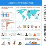 air safety infographic vector...   Shutterstock .eps vector #364487756