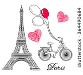 sketch of paris  eiffel tower...   Shutterstock .eps vector #364490684