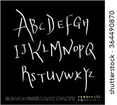 hand drawn alphabet   number  ... | Shutterstock .eps vector #364490870