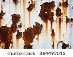 corroded white metal background.... | Shutterstock . vector #364492013