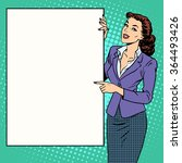 poster businesswoman style your ... | Shutterstock .eps vector #364493426