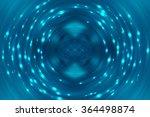 abstract fractal blue... | Shutterstock . vector #364498874