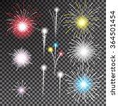 set of isolated  fireworks on... | Shutterstock .eps vector #364501454