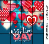 valentine. set of stickers in... | Shutterstock .eps vector #364501634