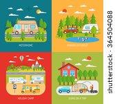 motorhome concept icons set...   Shutterstock .eps vector #364504088