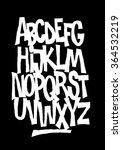 hand lettering font. vector... | Shutterstock .eps vector #364532219