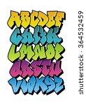 bright cartoon comic graffiti...   Shutterstock .eps vector #364532459