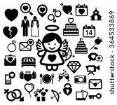 valentine's day icons set.... | Shutterstock .eps vector #364533869