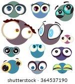 cartoon eyes set. sad cartoon... | Shutterstock .eps vector #364537190