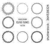 set of hand drawn doodle frames.... | Shutterstock .eps vector #364538324