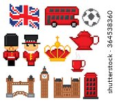 england culture symbols icons... | Shutterstock .eps vector #364538360