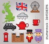 england culture symbols icons... | Shutterstock .eps vector #364538396