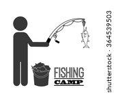 fishing tournament design  | Shutterstock .eps vector #364539503