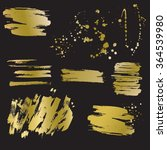 set of vector golden blots and... | Shutterstock .eps vector #364539980