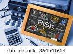 risk management concept hand... | Shutterstock . vector #364541654
