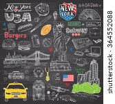 new york city doodles elements
