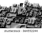 Metal Letterpress Types. A...