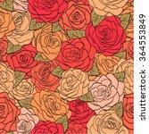 beautiful seamless pattern red...   Shutterstock .eps vector #364553849